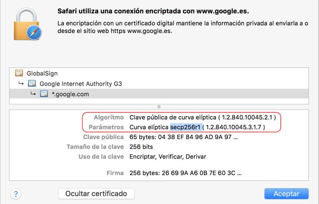 Firma de certificados digitales Google imagen