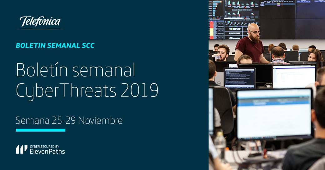 #NoticiasCiberseguridad: Boletín de ciberseguridad semanal 25-29 de noviembre