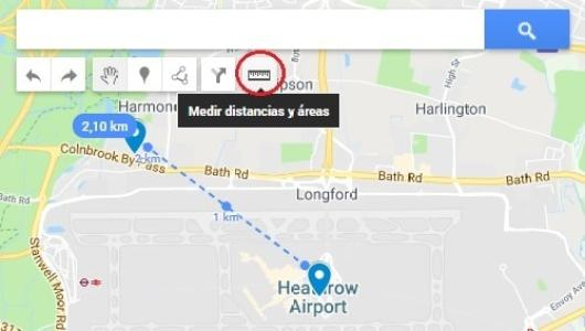 medir distancias google maps