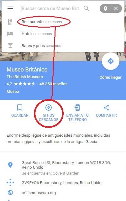 restaurantes cercanos google