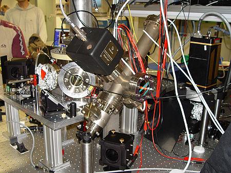 Figura 3:  Trampa de iones utilizada en una computadora cuántica.