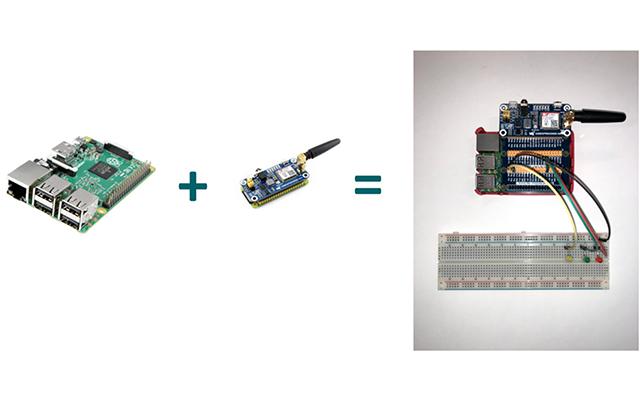 Implementación con Rasbperry Pi y módulo GSM de Stack SMS IoT.