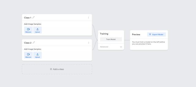 Figura 5. Vista del comienzo de un proyecto de clasificación de imágenes.
