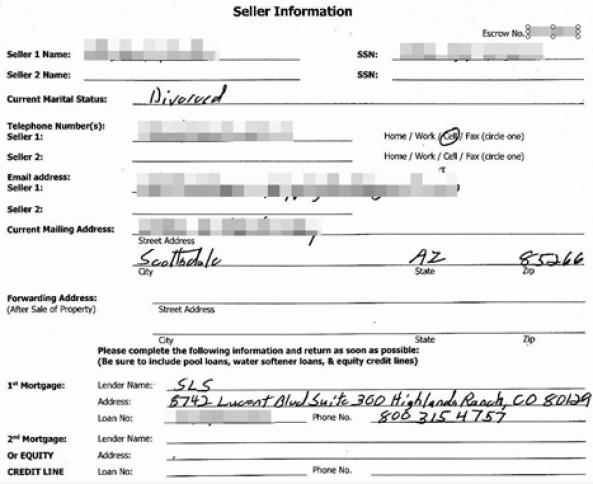 Un ejemplo de los millones de registros con información sensible expuestos en la web de  First American Financial
