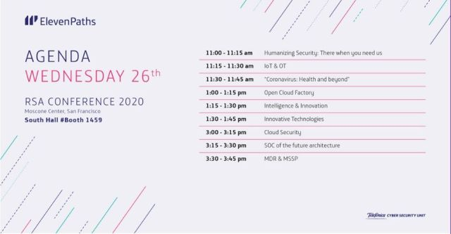 agenda miercoles ElevenPaths RSA Conference