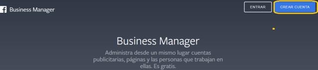 Crear cuenta de Business Manager