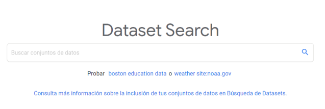 Figura 1: Google Dataset Search