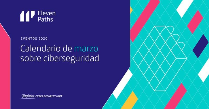 Calendario de marzo 2020 sobre ciberseguridad