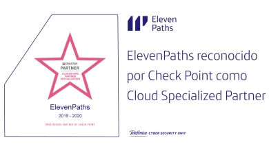 ElevenPaths reconocido por Check Point como Cloud Specialized Partner