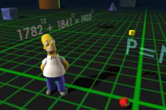 Homer en 3D y los números antes mencionados asociados al último teorema de Fermat. Fuente.