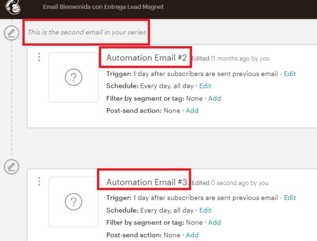 Automatizaciones Mailchimp