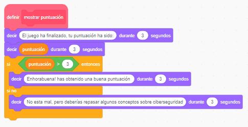Figura 4: Marcador de puntuación