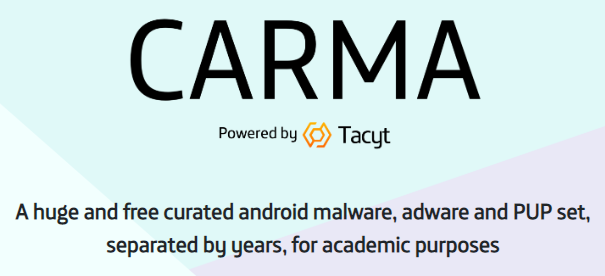 CARMA: a huge and free curated android malware and PUP set