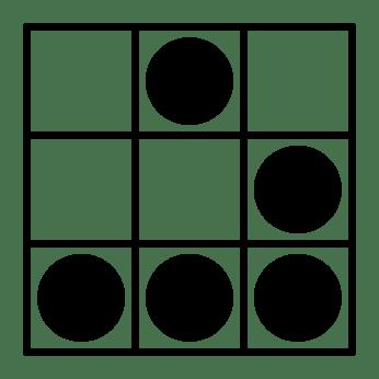 """Figura 8. Símbolo que representa la cultura hacker basado en el """"glider"""" de Conway."""