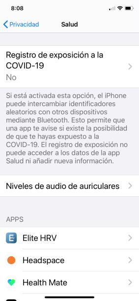 Soporte para instalar apps de registro de exposición a la COVID-19