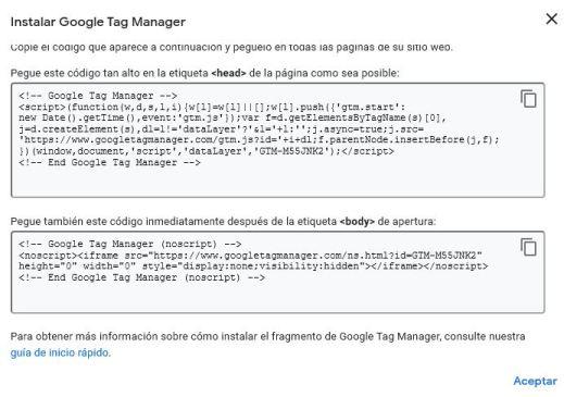 Cómo instalar Google Tag Manager