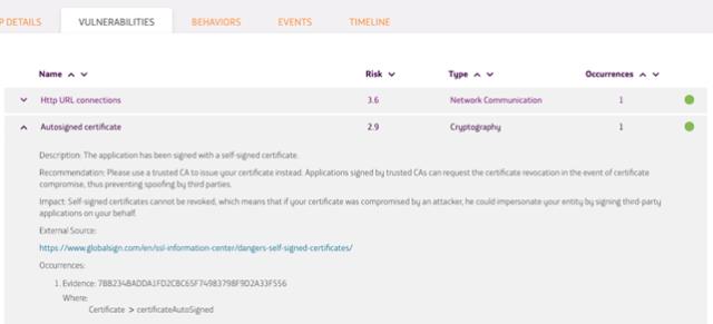 Imagen 4: Uso de Certificados Auto firmados