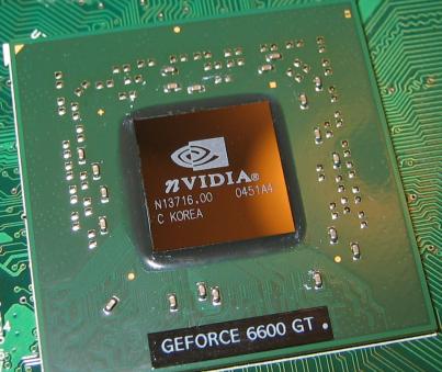 Figura 1. GPU de NVidia GEFORCE 6600 GT. Fuente.