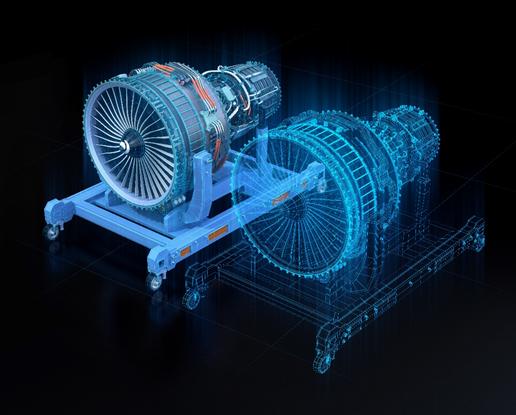 Figura 3: Ejemplo de gemelo digital : turbina