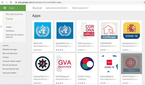 Apps oficiales en España accesibles en el market de Google (10 en total)