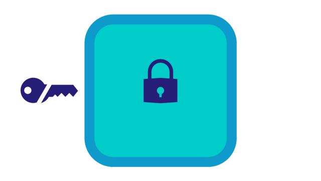Ilustración 3. Caja fuerte SSSS: un candado, una llave dividida en dos.