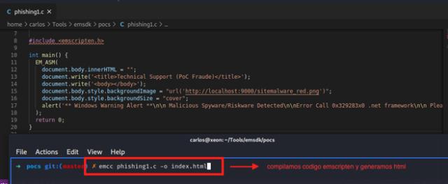 Ejemplo de compilación y ejecución de WASM (PoC Fraude)