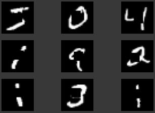 Figura 3. Muestra de las mismas 9 imágenes de la Figura 2, pero enmascaradas.