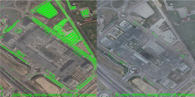 imágenes de satélite comerciales cortesía de Maxar Technologies©.