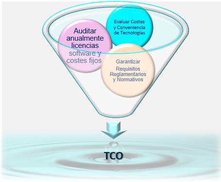 Ingredientes para el cálculo del Coste Total de Propiedad (TCO)