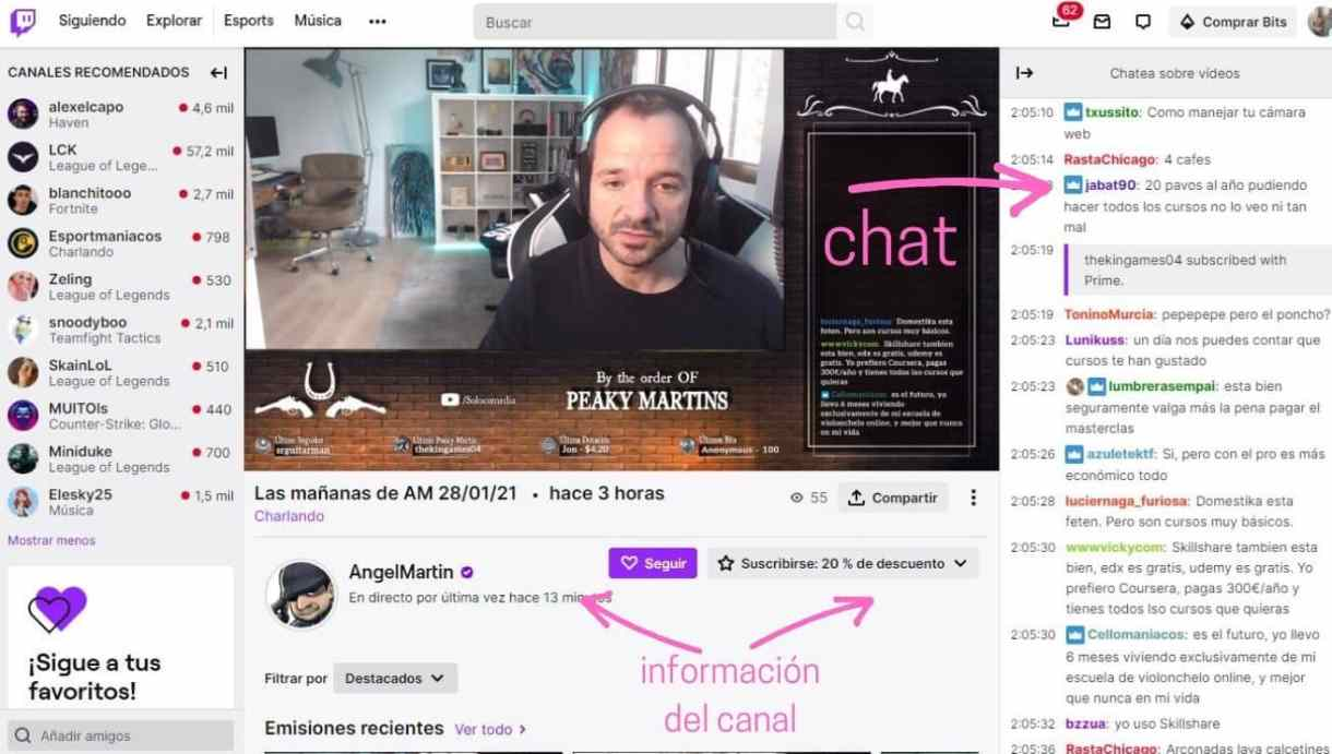 Chat en Twitch