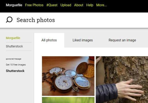 Banco de imágenes gratuitas Morguefile
