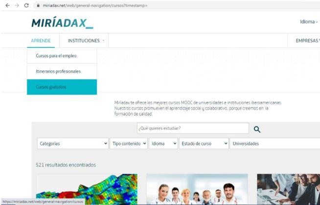 Portal MiríadaX